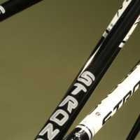 Custom Lazer Midnight frame and fork, Custom Panels and Decals in White and Silver.