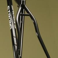 Custom Steel MTB w/ ISCG mount. Black Powder w/ Cast Headbadge.