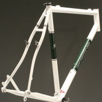 Custom Steel Cyclocross Frame w/ Custom Powdercoat Panels and Decals
