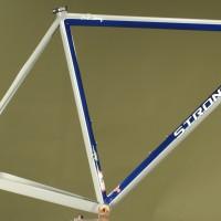Custom Grey, Blue and Silver Powdercoated Steel Road Frame