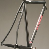 Custom Steel Road Frame w/ Custom Glitter Matte Black and Rose Liquid Paint.