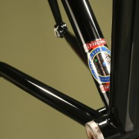 Custom Steel Extralite Road Frame. Lazer Midnight w/ custom Sliver & Red decals.