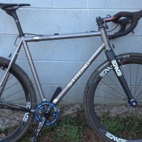 Here is a picture of the CX bike in single speed trim. I raced it in a small CX race in Kingsport, TN in early January. Bike did great although knobbier tires might have helped me stay upright. Tire/wheel combo is fast!!- too fast in greasy mud. I raced it again this past weekend at […]