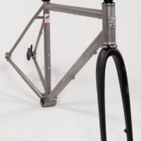 Custom Blend titanium All-Road for Roholff hub with Gates belt drive.