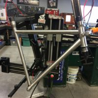 Extralite Blend steel frame. This frame is a combo of Columbus Spirit, Life and True Temper S3.