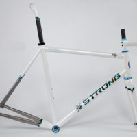 Return customer Andy had this double butted titanium frame painted by Joe Bell.