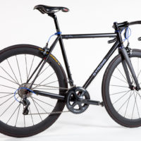 Extralite Steel road bike. Made from a blend of Columbus Spirit and Life along with True Temper S3. This tube combination produces a stiff racey feel without adding a lot of weight.