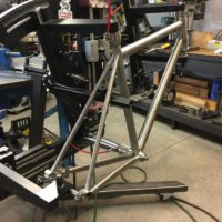 Custom Titanium All-Road with Flat Mount Brakes and Internal Brake Routing
