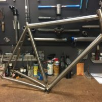 Titanium Road Bike with IS Headtube and Internal Di2