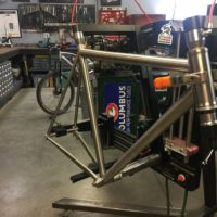 Titanium Gravel for Di2 with Flat Mount Brakes