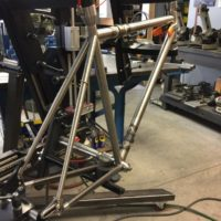 Reynolds 953 Stainless S&S Frame with Stainless Fork