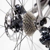 Titanium Disc Road Bike with Ultegra Di2 and Ritchey wheels and cockpit.