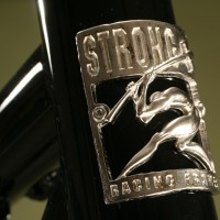 Custom Steel MTB w/ ISCG mount. Black Powder w/ Cast Headbadge.
