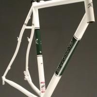 Custom Steel Cyclocross Frame w/ Custom Powdercoat Panels and Decals