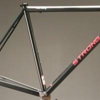 Custom Steel Road Frame w/ Custom Glitter Matte Black and Rose Liquid Paint.