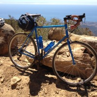 """Carl,I finally got around to sending you a picture. This is 4000 feet above Santa barbara, taken on a 3-day on/off road tour. The bike is perfect for these """"adventure"""" type rides.Thanks,"""