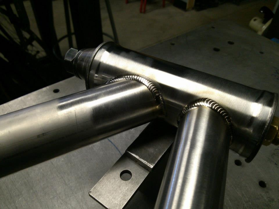 Here is a close up of a titanium headtube. It has taken many years and many frames to get to the point at which I could consistently produce welds of this aesthetic quality. Just because a weld is pretty doesn't mean it's strong, but if you know what you're doing, a weld can be pretty […]