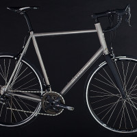 Custom Blend titanium road. Campy Record with custom built with Hed/King wheels.