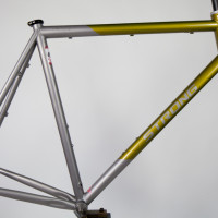 Titanium dirt road frame with sliders for Alfine and Di2.