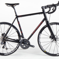 Custom Blend titanium All-Road with Mavic wheels, Shimano Ultegra Di2 and hydro brakes.