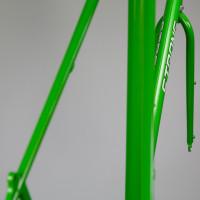 Custom Blend steel dirt road frame with custom fork.