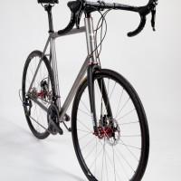 Titanium disc brake road bike.