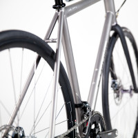 Titanium with Sram low mount disc and Enve GRD.