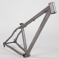 Double butted titanium 27.5″ MTB. 2.8 pounds.