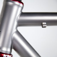 Double butted titanium road.