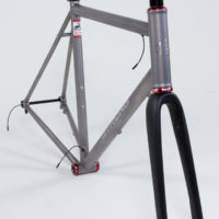 Gravel frame wired for Di2 ready to ship to Ren in CA.