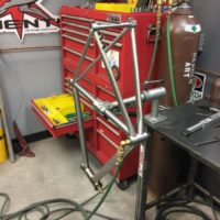 Titanium All-Road Gravel Frame with Flat Mount Brakes and Di2 Internal Wiring