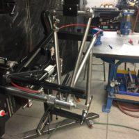Titanium Disc Brake Road Bike. Flat Mount Brakes and Internal Brake and Di2.