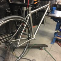 Double Butted Titanium Road Bike with Direct Mount Brakes