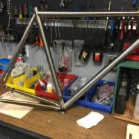 Titanium Road Bike. We'll be building this with Campy Super Record EPS V3 and Enve wheels and cockpit.