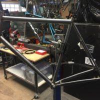 Titanium Gravel Frame for Red eTap and Flatmount Brakes