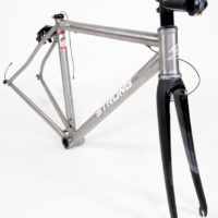 Double butted titanium road frames with direct mount brakes.