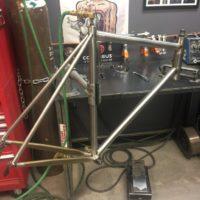 Titanium Road Bike for Long Reach Brakes