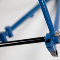 Custom Blend steel commuter frame. Rodeo Labs Spork fork.